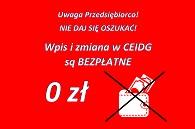 CEIDG ostrzeżenie